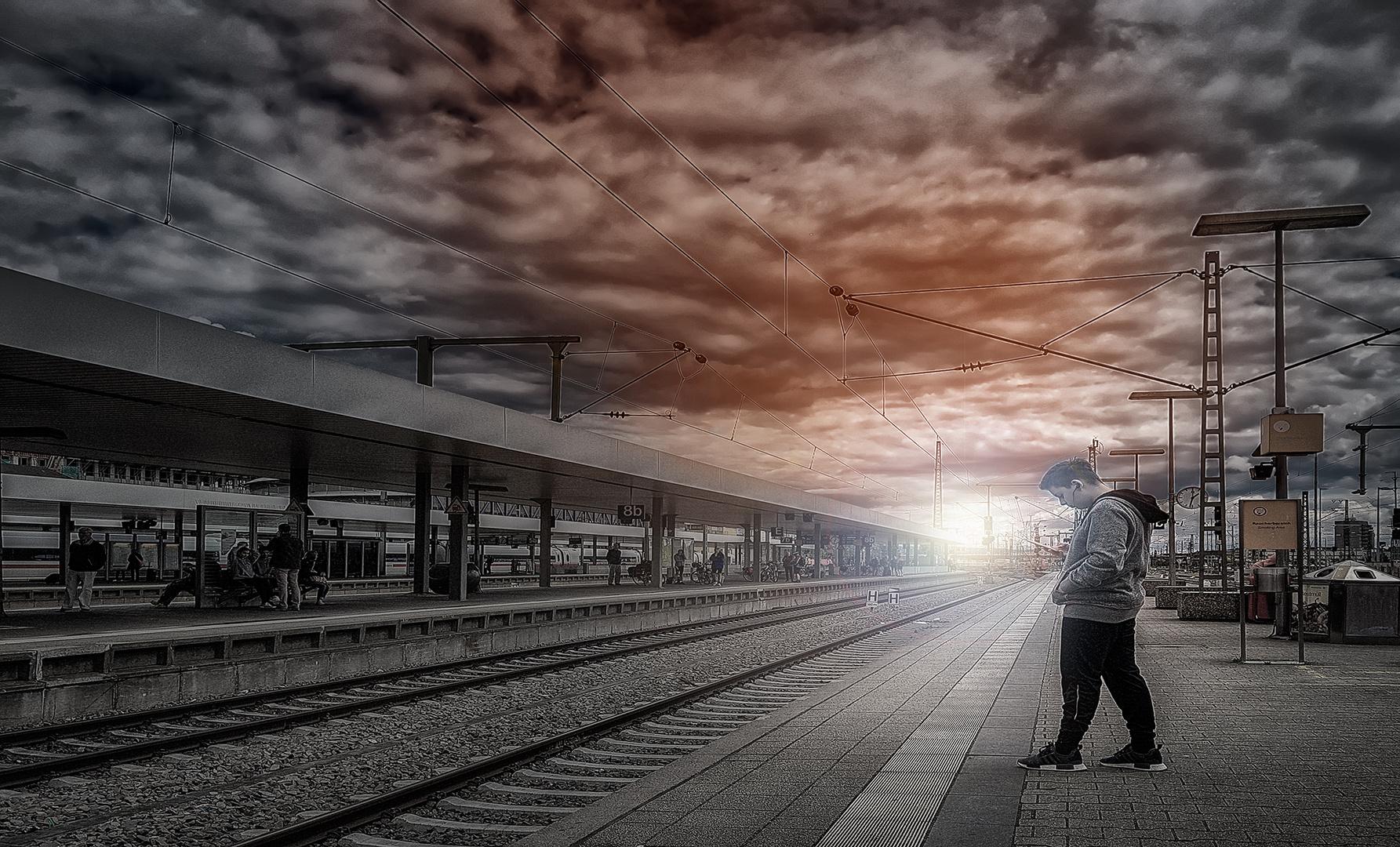 .....am Bahnhof