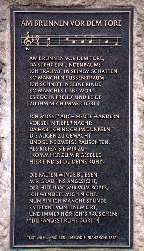 Am Brunnen vor dem Tore - Text
