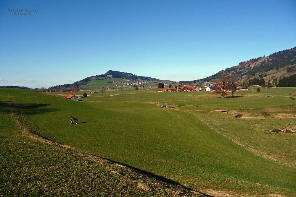 """""""Am Burgberger Moor mit Blick auf Agathazell und Weitblick nach Rettenberg"""""""