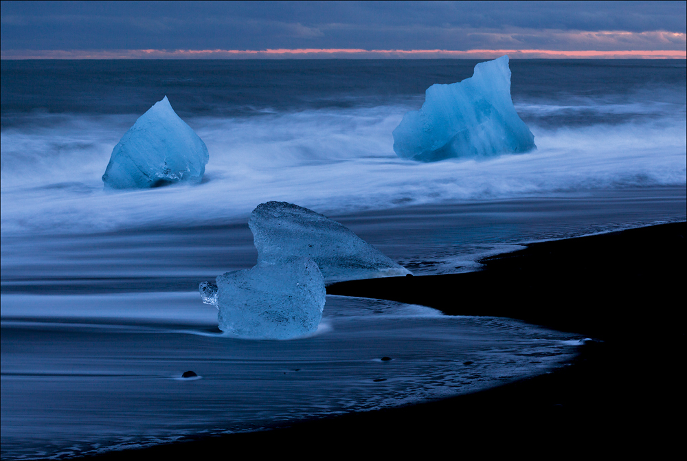 am Eisstrand von Island