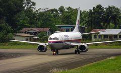 Am Flughafen Sandakan