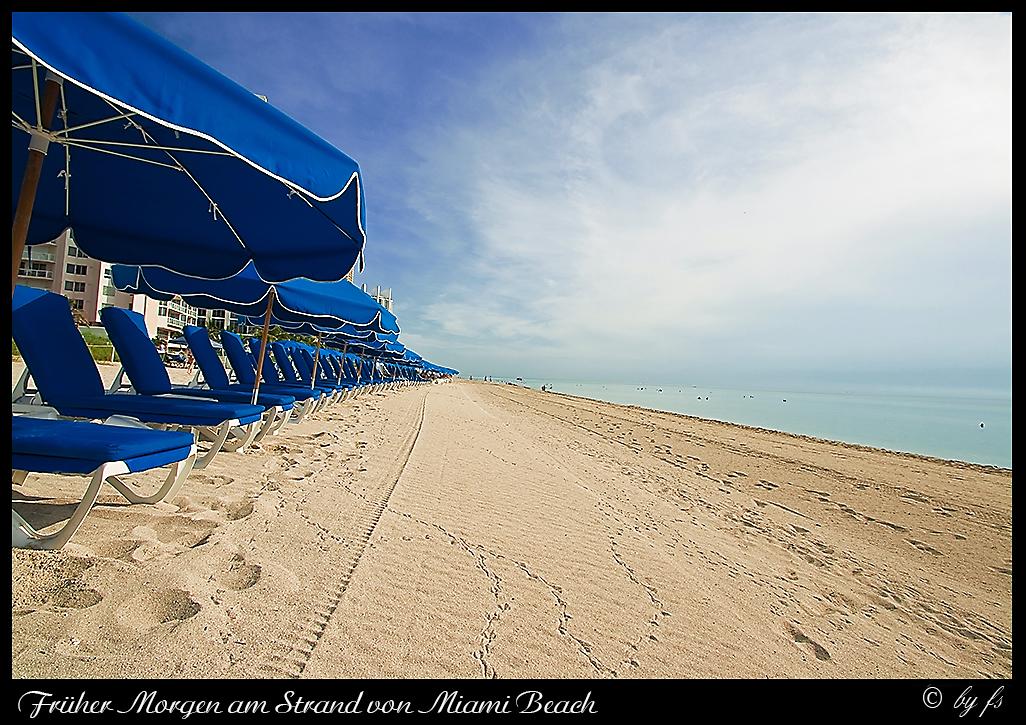Am frühen Morgen in Miami Beach