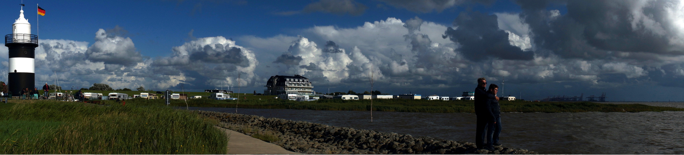 Am Hafen von Wremen