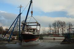 """"""" Am Haken"""" im Yachthafen Fuestrup in Greven am Dortmund Emskanal"""