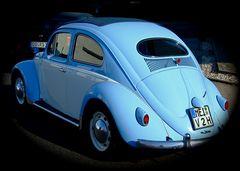 °°° Am Hintern mit Rückstrahler - der gefällt mir aber - der blaue Käfer °°°