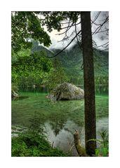 Am Hintersee bei Ramsau / Insel mit zwei Bäumen