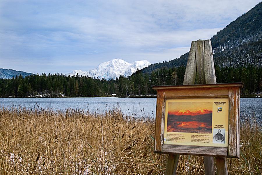Am Hintersee in der Ramsau im Berchtesgadener Land