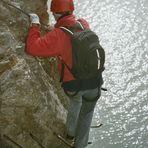 am Klettersteig Aletsch