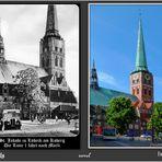 Am Koberg lagen damals noch Straßenbahnschienen ....