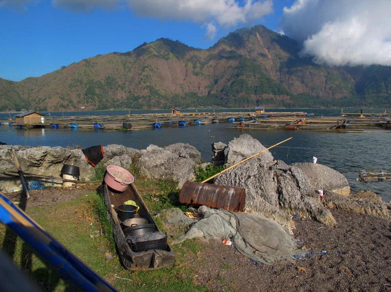am Kratersee des Gunung Batur auf Bali