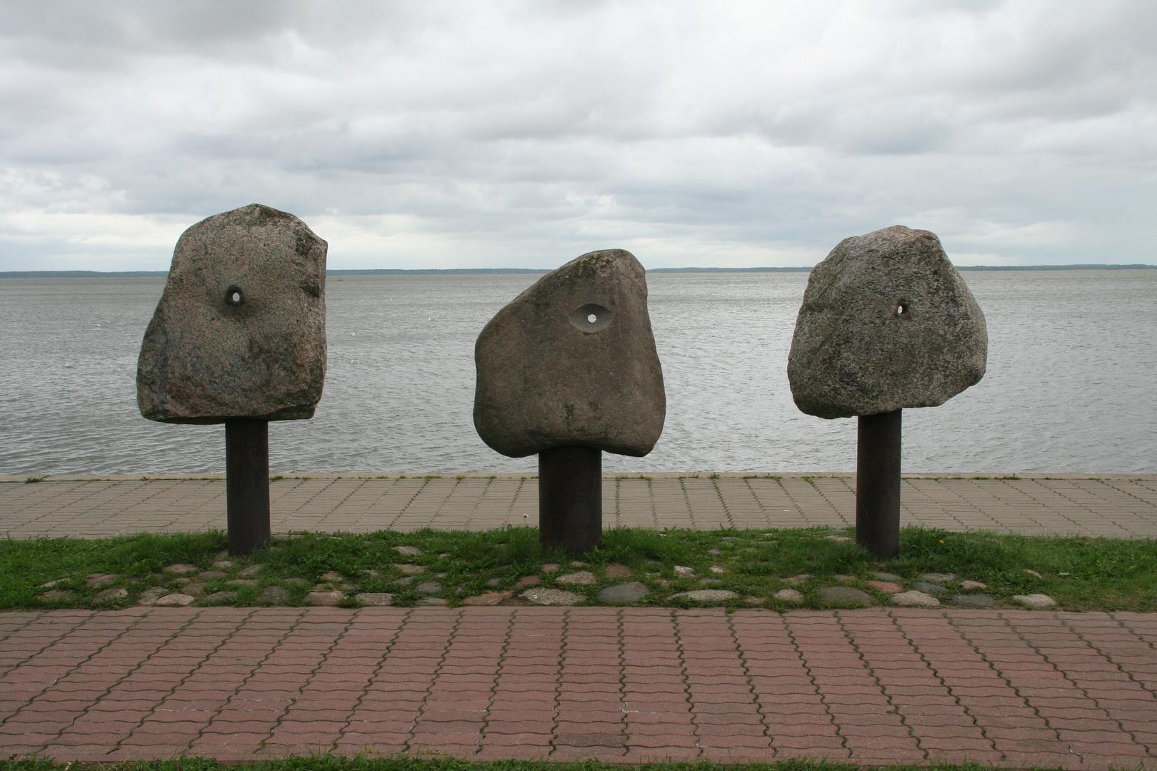 Am Kurischen Haff - Kunstwerke am Strand: Einfach aber doch genial und ansprechend