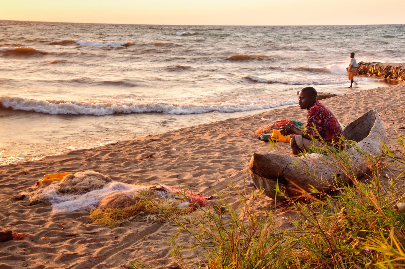 Am Malawisee am Morgen