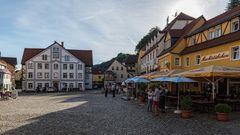 am Marktplatz von Wehlen