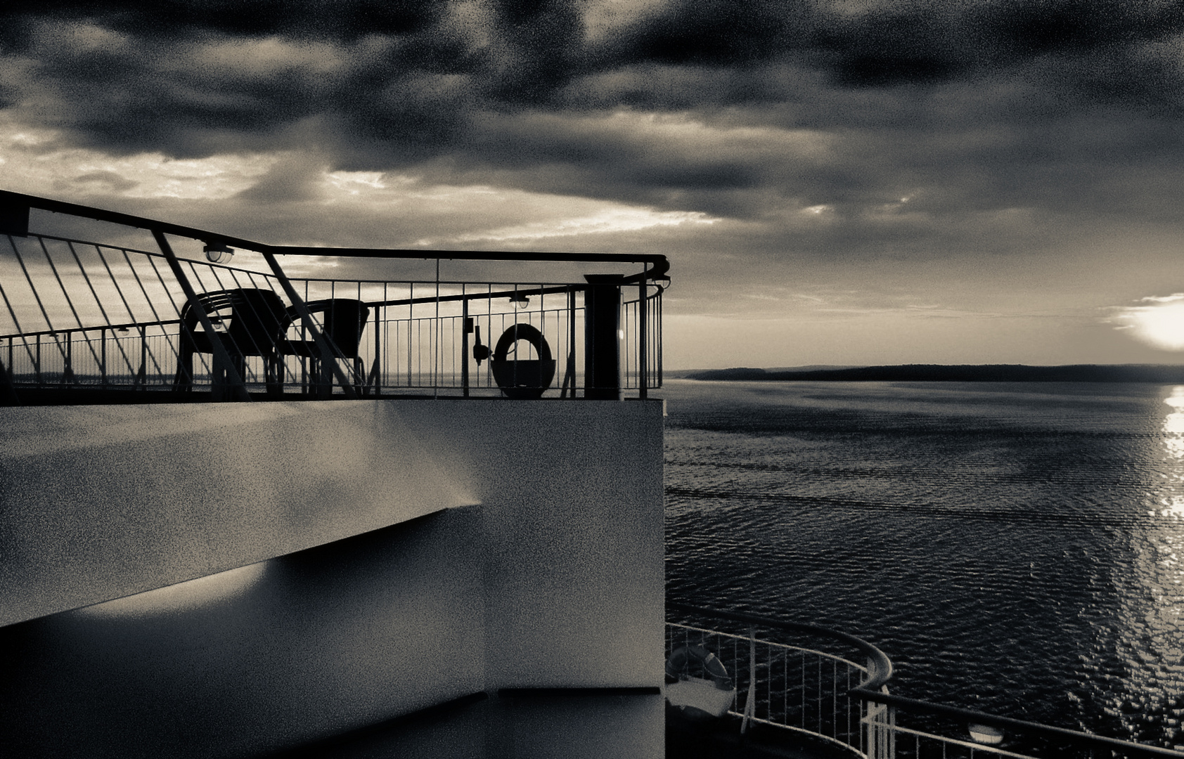 am morgen im oslofjord ...