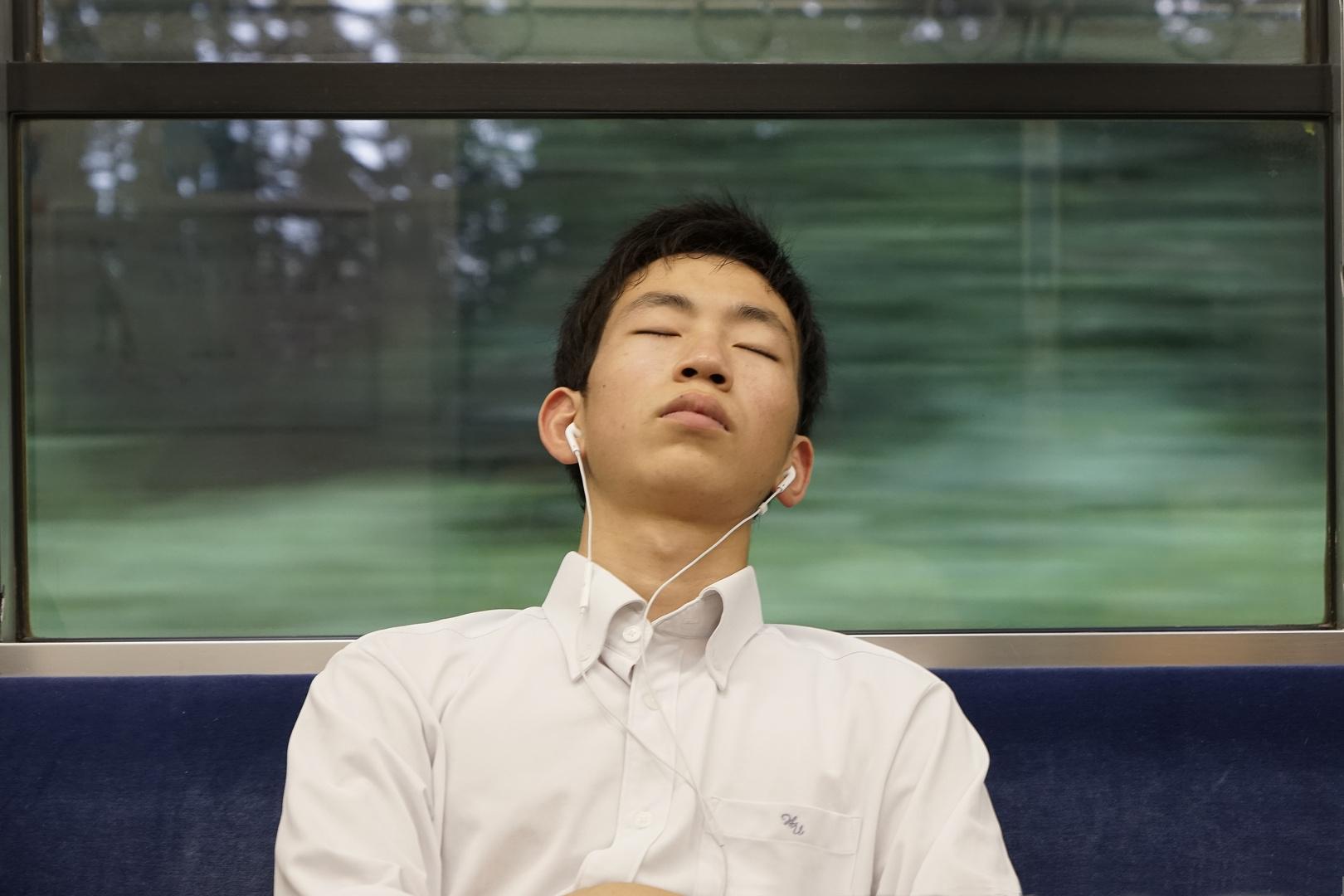 Am Morgen im Zug