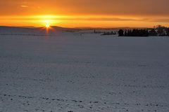 Am Morgen nach dem ersten Schnee und nun geht der zweite...