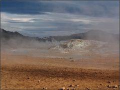 Am Námafjall-Vulkan