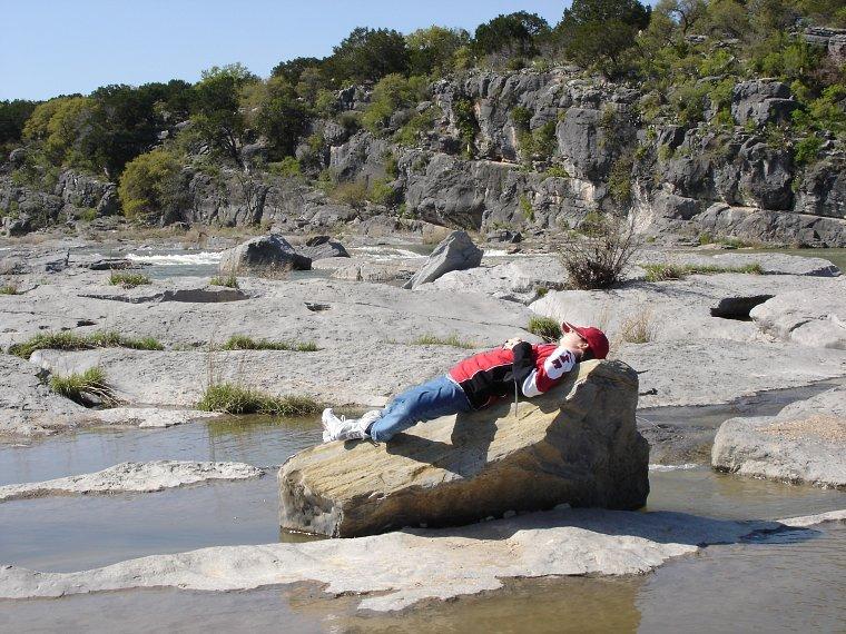 Am Pedernales River/Texas