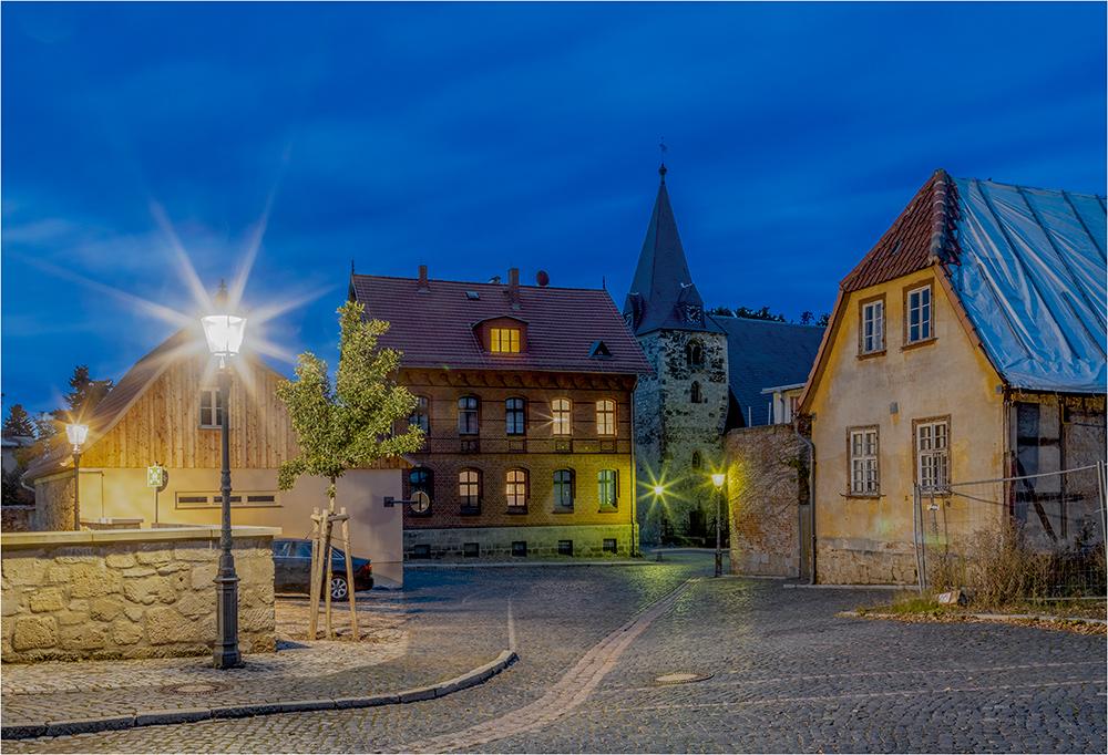 Am Rathaus von Ballenstedt