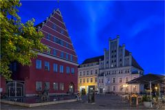 Am Rathaus von Greifswald