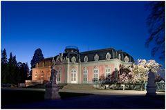 Am Schloss Benrath wird gebaut