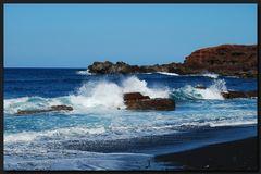 ...Am schwarzem Strand von El Golfo...