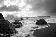 am schwarzen Strand Reynisfjara in Island