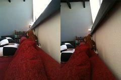 Am Sofa entlang dem Teddy entgegen... ;)