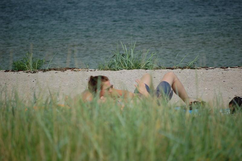 Am Strand Erwischt
