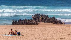 Am Strand und im Wasser viel Platz