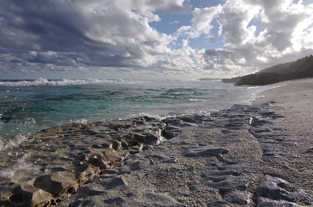 Am Strand von Atiu 1