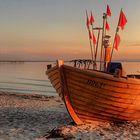 Am Strand von Binz - Fischerboot