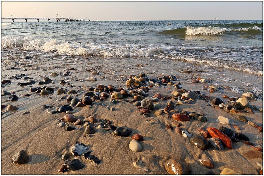 Am Strand von Göhren...