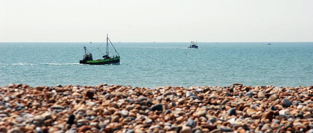 Am Strand von Heastings