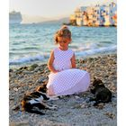 Am Strand von Mykonos
