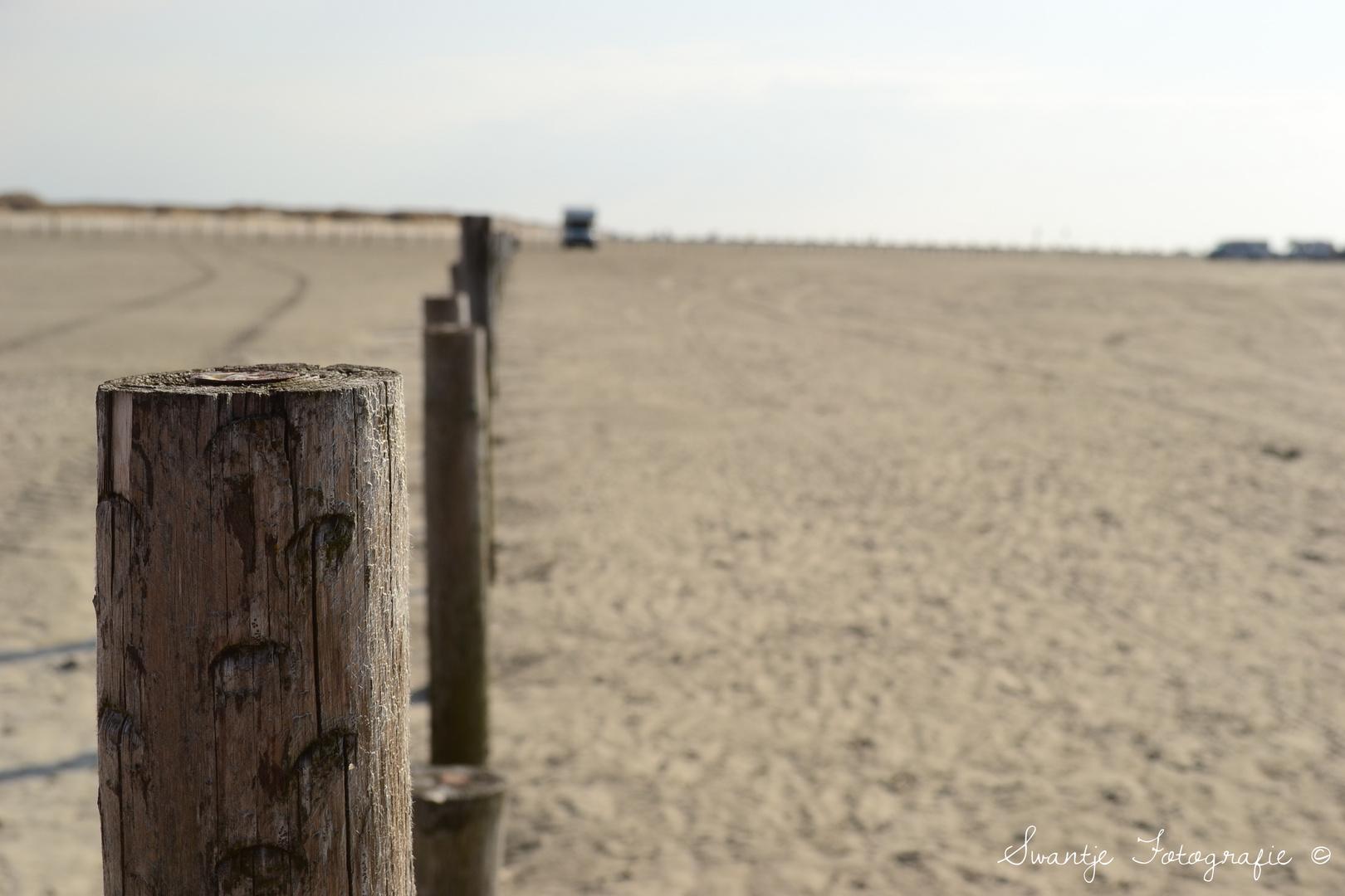 Am Strand von Sankt Peter-Ording...