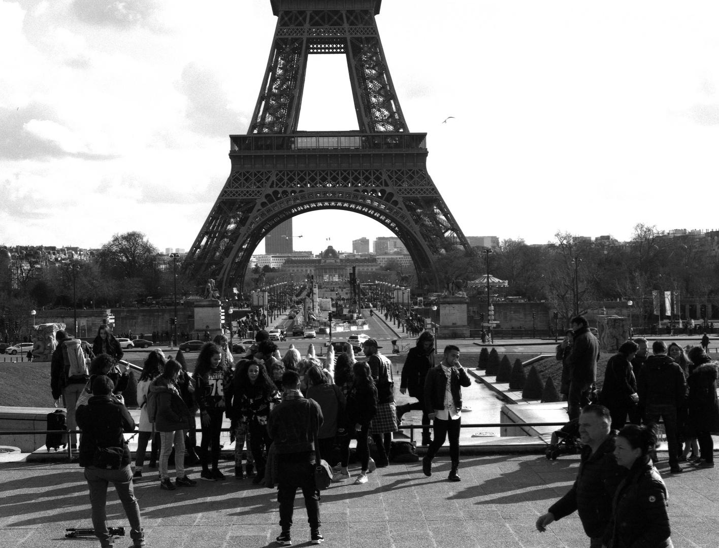 Am Trocadero - Eiffelturm