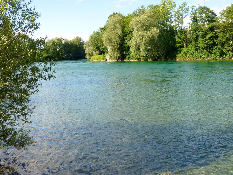 Am Ufer der Reuss entlang ...