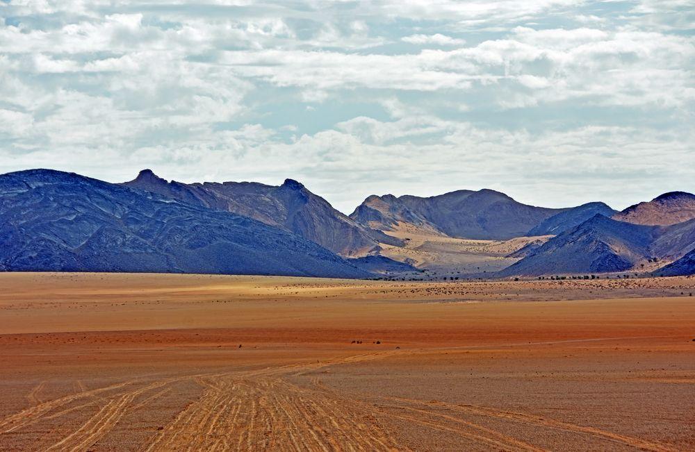 Am Vormittag auf dem Wüstenplateau bei Tafraout Hassi Fougani