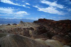 am Zabriskie Point im Death Valley