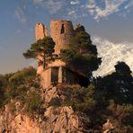 Amalfi - Tramonto su Torre normanna