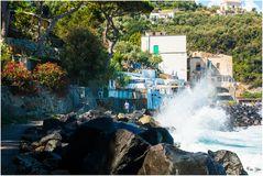 Amalfi unten an der Steilküste
