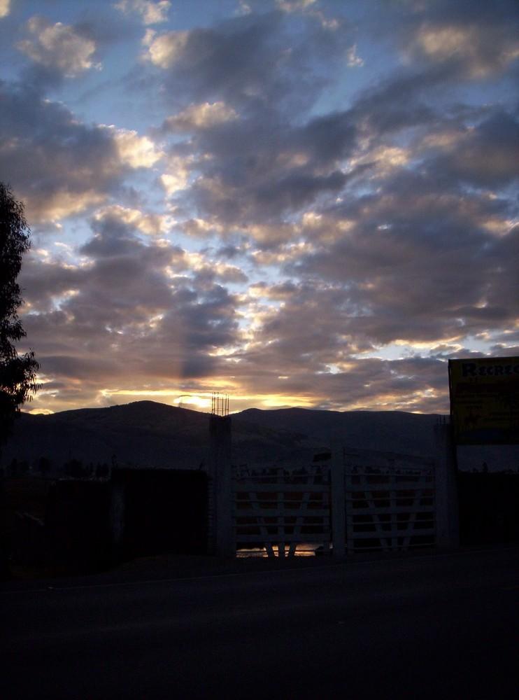 Amanecer camino a Huancayo