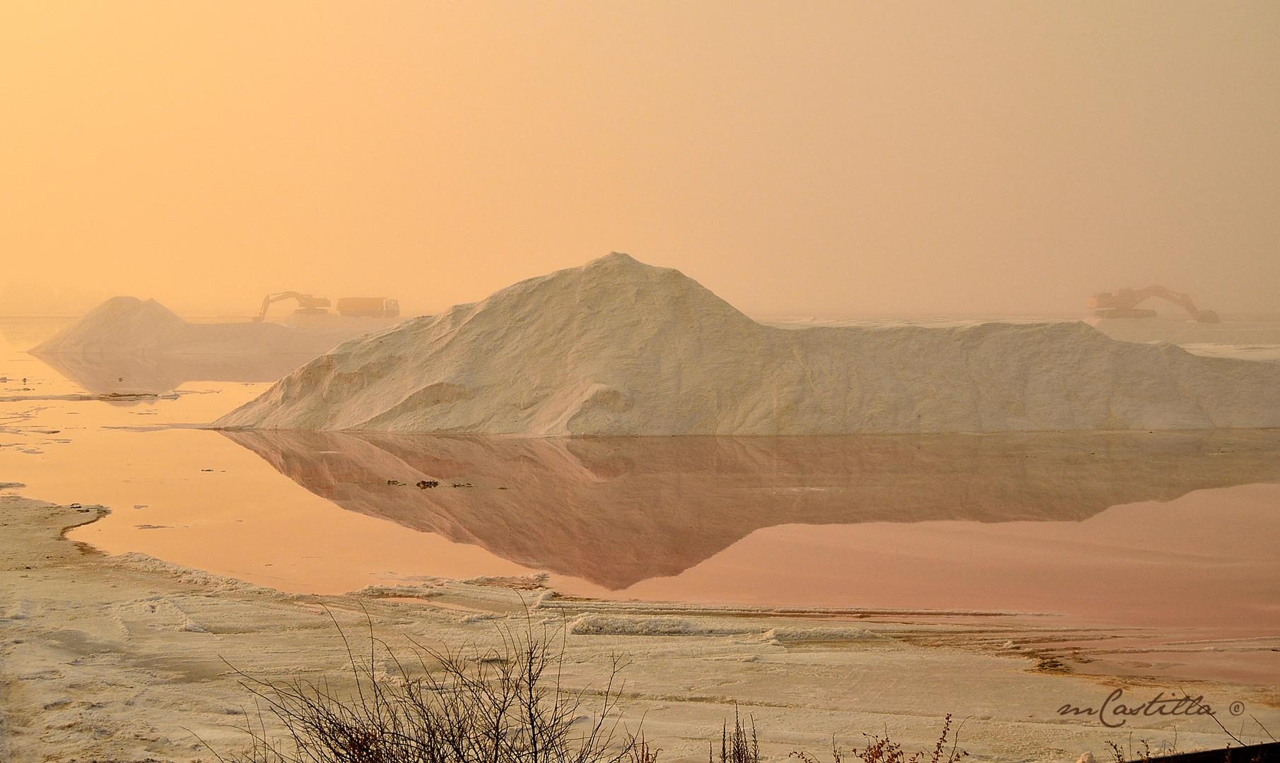 amanecer con niebla (salinas Huelva)