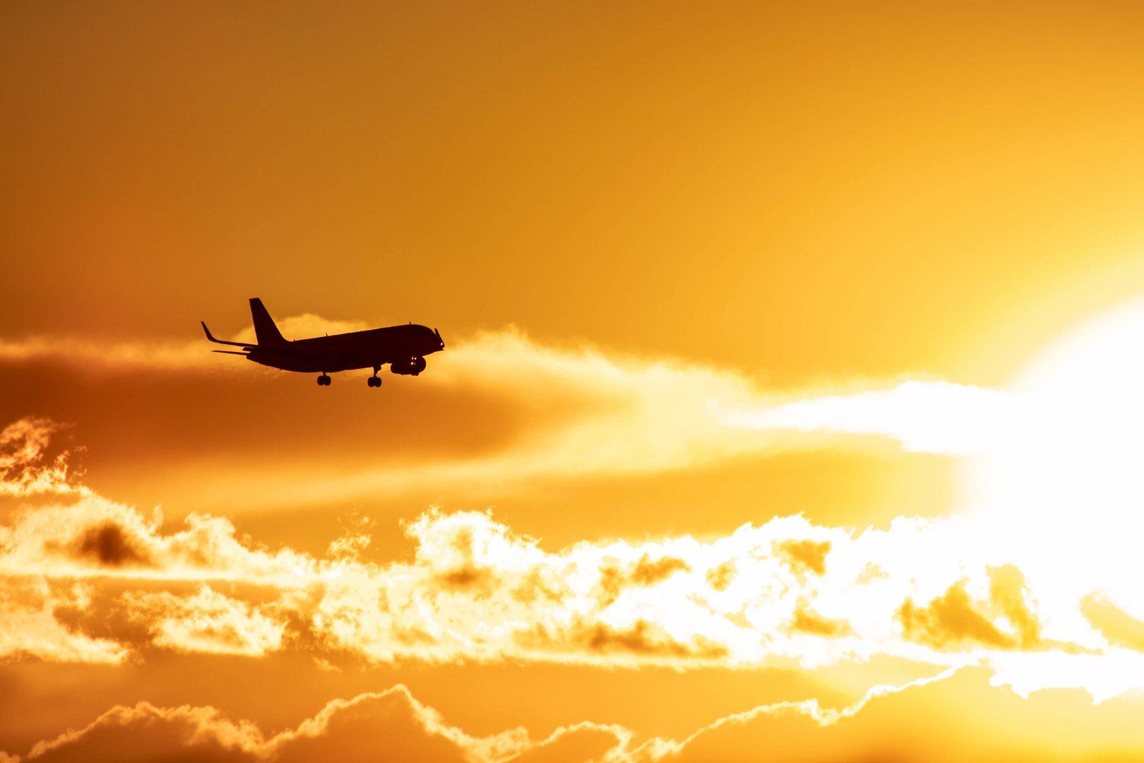 Amanecer del avión