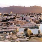 Amanecer en Jökulsárlón (Agosto 2005)
