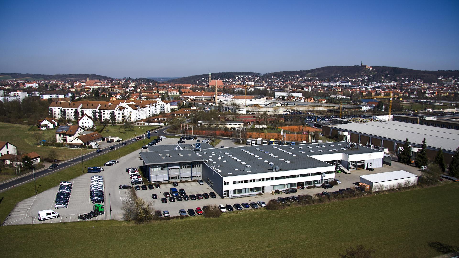 Amberg vom Industriegebiet Süd aus gesehen Foto & Bild