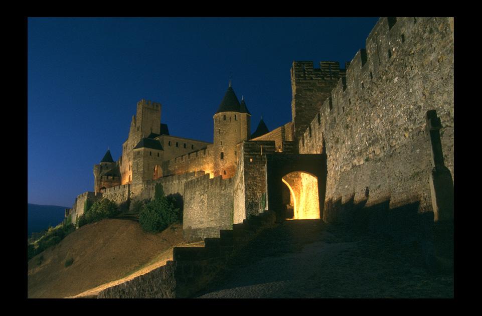 Ambiance de la Cité au crépuscule - Carcassonne