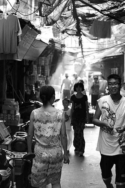 Ambiance de rue à Wuhan