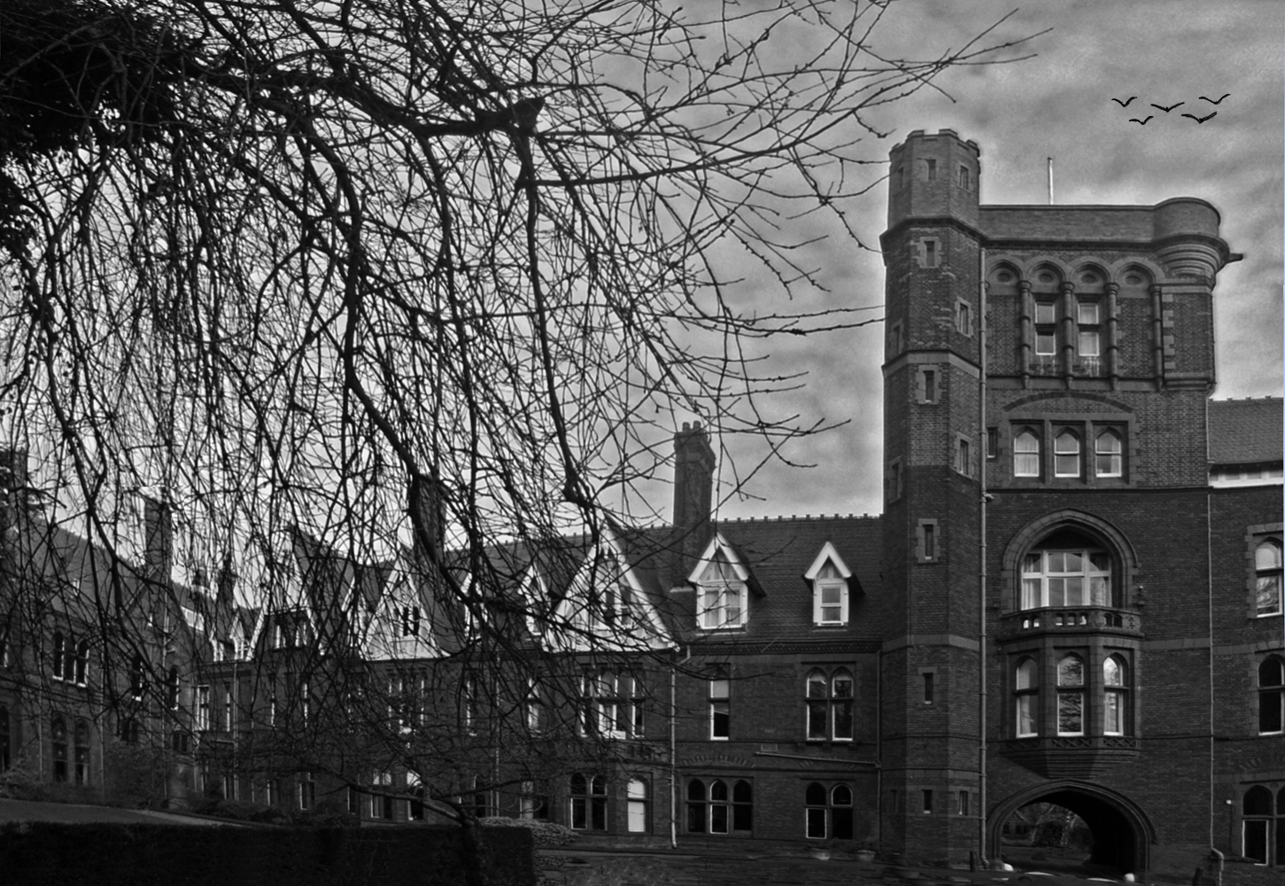 Ambiance Hitchcockienne  --  Girton College, Cambridge  --  Hitchcock Stimmung
